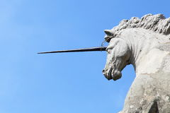 Unicorn of Borromeo palace Stock Images