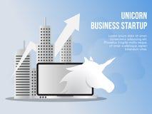Unicorn business startup concept illustration design template royalty free illustration