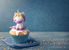 Unicorn cake. Unicorn cupcakes for a party stock images