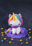Unicorn cake topper. For cake royalty free stock image