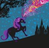 Unicorn and Castle Royalty Free Stock Photo