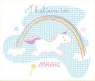Unicorn child drawings Royalty Free Stock Photography