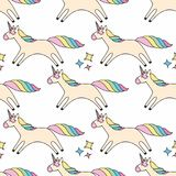 Unicorn. Colorful vector seamless pattern for design and decoration Royalty Free Stock Images