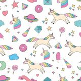 Unicorn. Colorful vector seamless pattern for design and decoration Stock Images