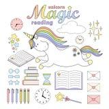 2018 03 31_unicorn czytanie ilustracja wektor