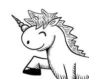 Unicorn Doodle alegre Fotografia de Stock