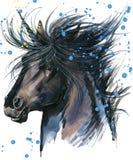 unicorn Einhornaquarellillustration Magisches Einhorn Stockfoto