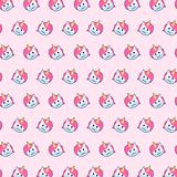 Unicorn - emoji pattern 43. Pattern of a emoji unicorn that can be used as a background, texture, prints or something else vector illustration