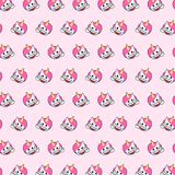 Unicorn - emoji pattern 65. Pattern of a emoji unicorn that can be used as a background, texture, prints or something else stock illustration