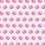 Unicorn - emoji pattern 79 stock illustration