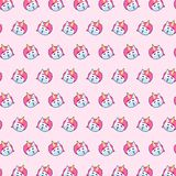 Unicorn - emoji pattern 16. Pattern of a emoji unicorn that can be used as a background, texture, prints or something else vector illustration