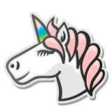 Unicorn emoji sticker Royalty Free Stock Image