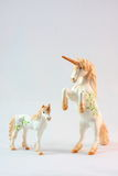 Unicorn figurine toys Royalty Free Stock Photos