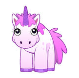 Unicorn front. This is a pink cartoon unicorn standing in front Stock Photography