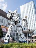 Unicorn Gandam Statue, Odaiba, Tóquio, Japão imagem de stock