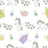 2018 04 26_unicorn garden_P1 royalty-vrije illustratie