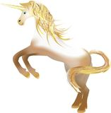 Unicorn  with the golden horn Royalty Free Stock Photography