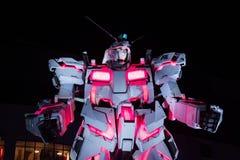 Unicorn Gundam Statue in Odaiba, Tokyo fotografia stock libera da diritti
