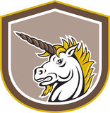 Unicorn Head Cartoon arrabbiato Fotografia Stock Libera da Diritti