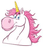 Unicorn Head Classic Cartoon Character magique Image stock