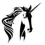 Unicorn horse black and white vector design Royalty Free Stock Photo