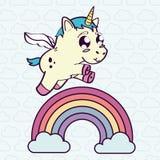 Unicorn horse cartoon design Royalty Free Stock Photography