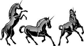 Unicorn Horse Set legendario stock de ilustración