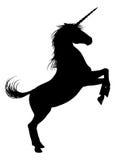 Unicorn Horse Silhouette Arkivfoto