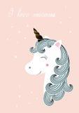 Unicorn -  illustration Royalty Free Stock Photo