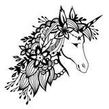 Unicorn isolated on white Stock Photography