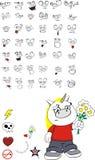 Unicorn kid carton vector set Stock Photos