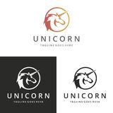 Unicorn logo. Logo suitable for businesses and product names. Easy to edit, change size, color and text Royalty Free Stock Photography