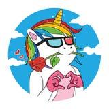 unicorn in love royalty free illustration