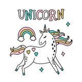 Unicorn magic party illustration Royalty Free Stock Images