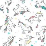 Unicorn magic seamless pattern Stock Images