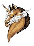 Unicorn Mascot Vector Art feroce illustrazione vettoriale