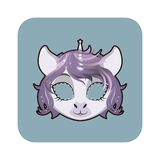 Unicorn mask for various festivities, parties Stock Images