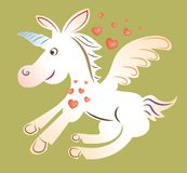 Unicorn cartoon Royalty Free Stock Photo