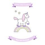 Unicorn party invitation stock illustration