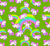 Unicorn pattern green Royalty Free Stock Photos
