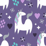 Unicorn Pattern magique photo libre de droits