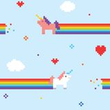 Unicorn pattern Royalty Free Stock Photography