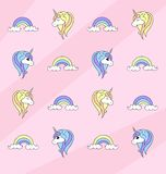 Unicorn Pattern vector illustration