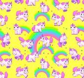 Unicorn pattern yellow