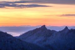 Unicorn Peak Purple Twilight Stock Photography
