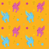 Unicorn Pegasus seamless pattern Stock Image