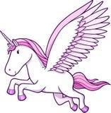 Unicorn Pegasus Vector Illustration. Pretty Unicorn Pegasus Vector Illustration Stock Photo