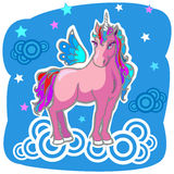 Unicorn Pegasus Vector Illustration Stock Images