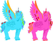 Unicorn Pegasus Vector Illustration Stock Photos