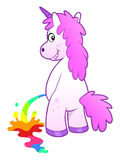 Unicorn pissing rainbow Royalty Free Stock Image